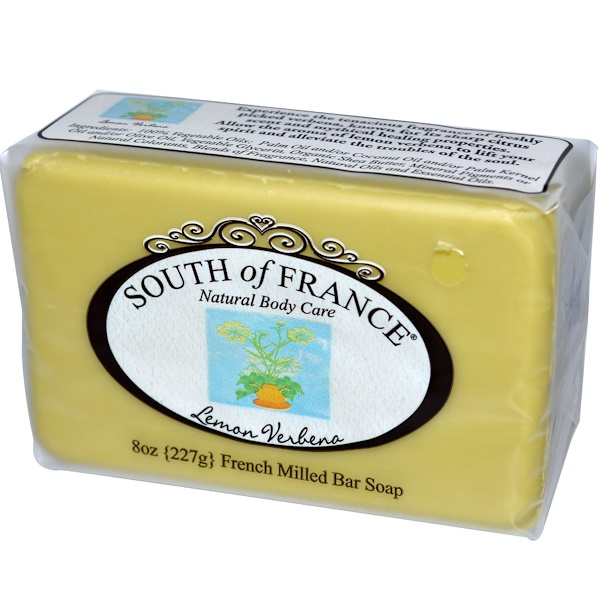 South of France, French Milled Bar Soap, Lemon Verbena, 8 oz (227 g) (Discontinued Item)