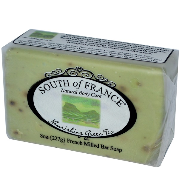 South of France, Nourishing Green Tea, French Milled Bar Soap, 8 oz (227 g) (Discontinued Item)