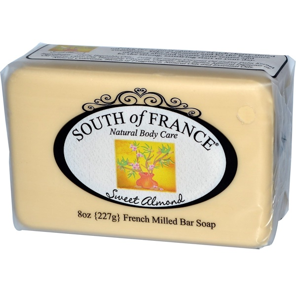 South of France, Sweet Almond, French Milled Bar Soap, 8 oz (227 g) (Discontinued Item)