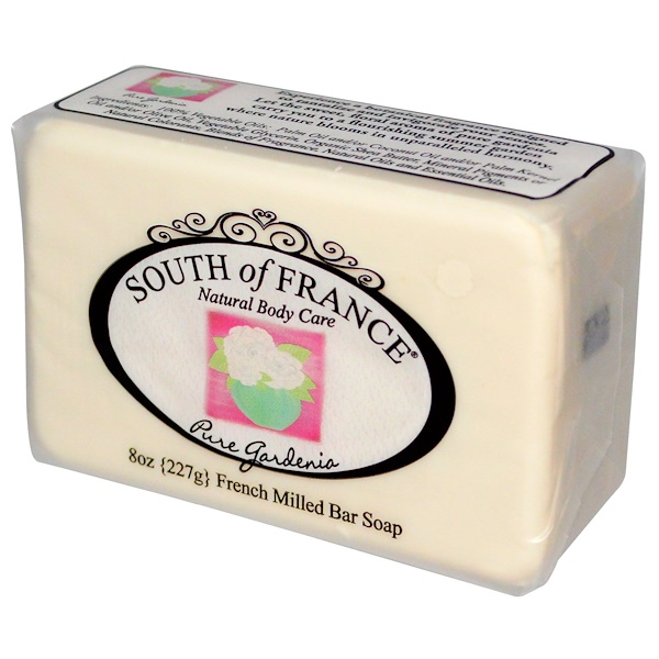 South of France, Pure Gardenia, French Milled Bar Soap, 8 oz (227 g) (Discontinued Item)