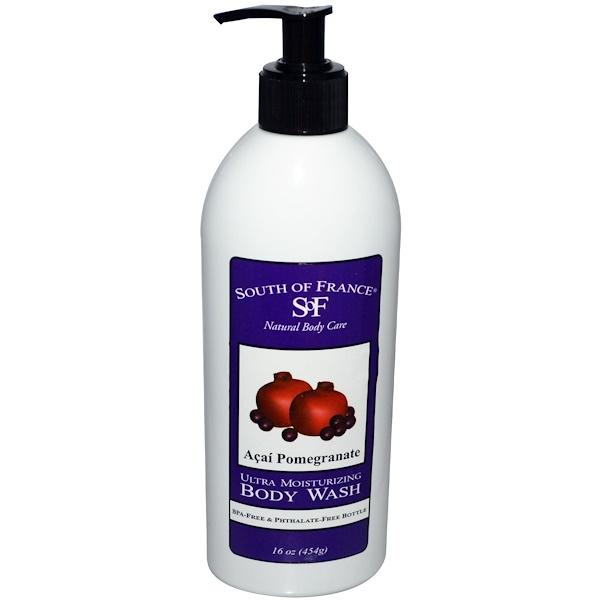 South of France, Ultra Moisturizing Body Wash, Acai Pomegranate, 16 oz (454 g) (Discontinued Item)