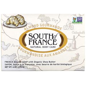 Соут оф Франс, Almond Gourmande, French Milled Soap with Organic Shea Butter, 6 oz (170 g) отзывы покупателей