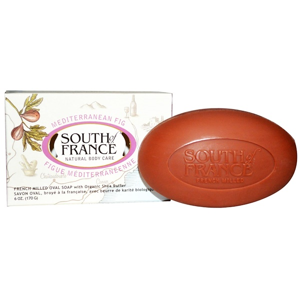 South of France, Mediterranean Fig, French Milled Oval Soap with Organic Shea Butter, 6 oz (170 g)