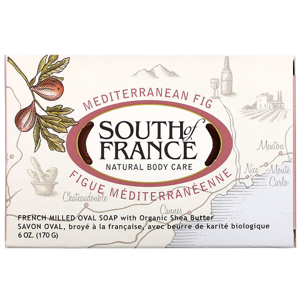 Mediterranean Fig, French Milled Soap with Organic Shea Butter, 6 oz (170 g)