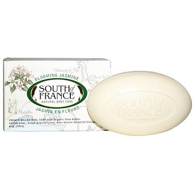 Купить Цветущий жасмин, французское пилированное овальное мыло с органическим маслом ши, 6 унций (170 г)