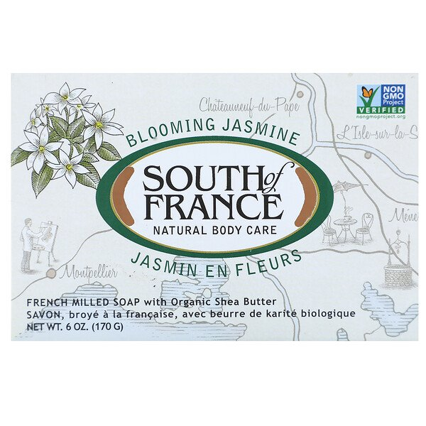 Blooming Jasmine, French Milled Oval Soap with Organic Shea Butter, 6 oz (170 g)
