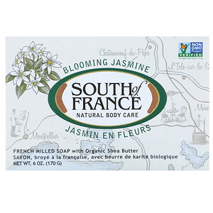 Соут оф Франс, Blooming Jasmine, French Milled Oval Soap with Organic Shea Butter, 6 oz (170 g) отзывы