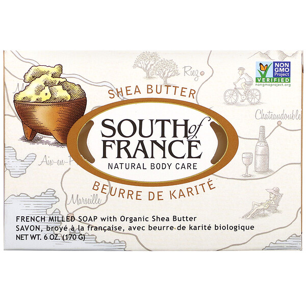 French Milled Soap with Organic Shea Butter, 6 oz (170 g)