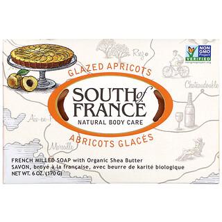 South of France, кусковое мыло французского помола с органическим маслом ши, запах абрикоса, 170г (6унций)
