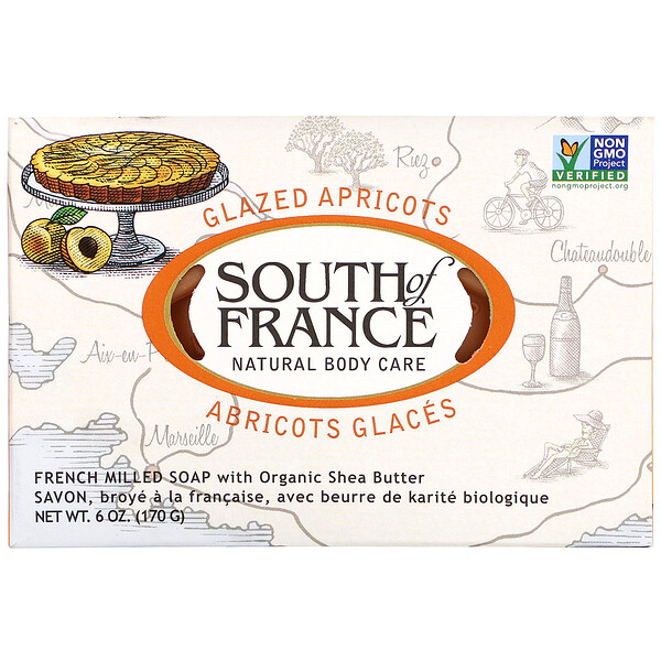 South of France, Französische Seife mit Bio-Sheabutter, Aprikose, 170 g