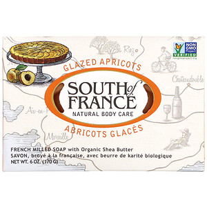 Соут оф Франс, French Milled Bar Soap with Organic Shea Butter, Glazed Apricots, 6 oz (170 g) отзывы покупателей