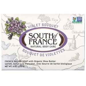 Соут оф Франс, French Milled Bar Soap with Organic Shea Butter, Violet Bouquet, 6 oz (170 g) отзывы покупателей