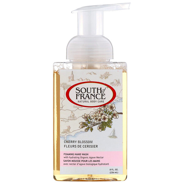 South of France, Foaming Hand Wash, Cherry Blossom, 8 fl oz (236 ml)