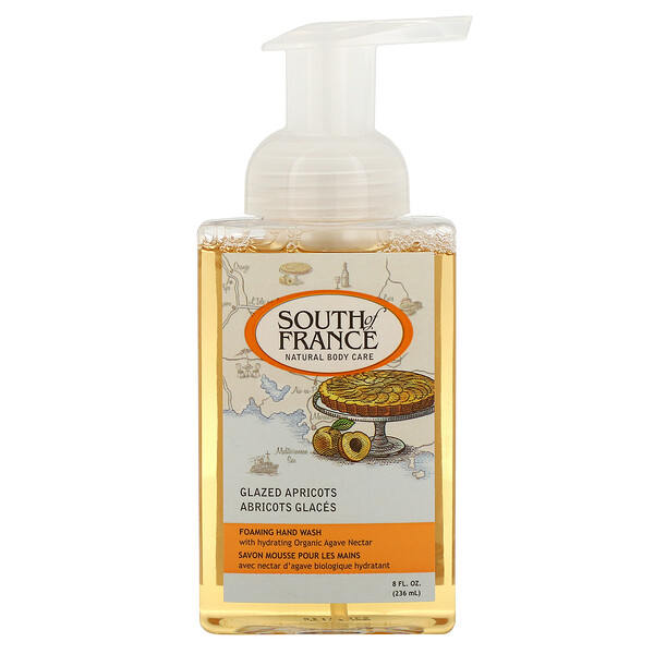 South of France, Foaming Hand Wash, Glazed Apricots, 8 fl oz (236 ml)