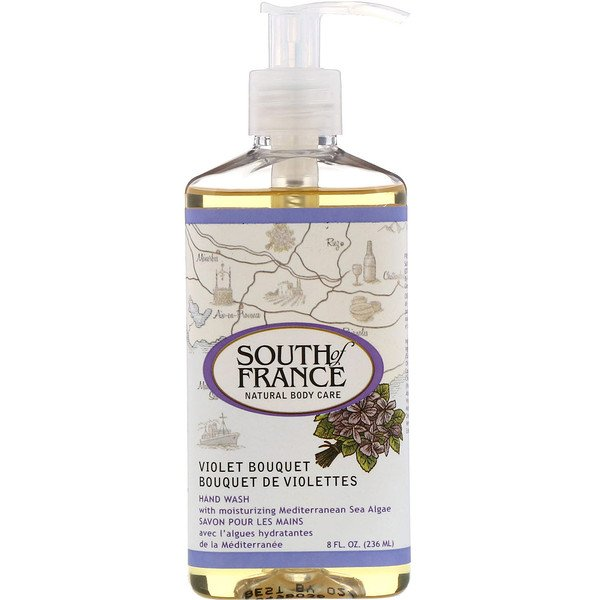 South of France, Hand Wash, Violet Bouquet, 8 fl oz (236 ml) (Discontinued Item)