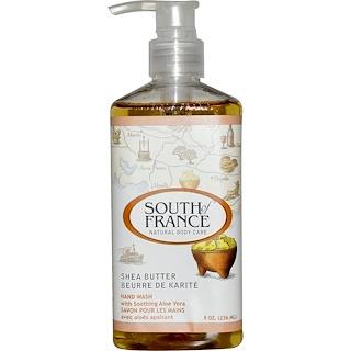 South of France, Масло ши, успокаивающее средство для мытья рук с алоэ вера, 8 унций (236 мл)