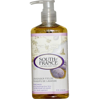 South of France, Lavender Fields, Hand Wash with Soothing Aloe Vera, 8 oz (236 ml)