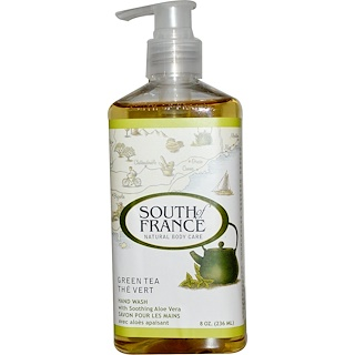 South of France, Green Tea, Hand Wash with Soothing Aloe Vera, 8 oz (236 ml)