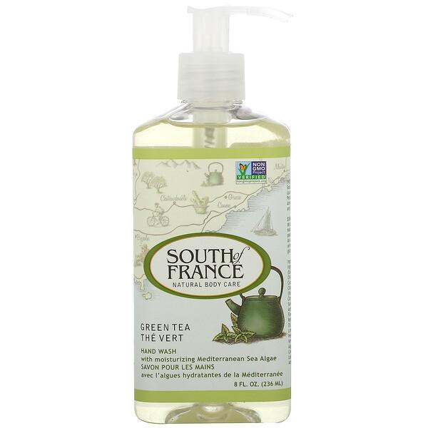 Thé Vert, Lavage à la Main avec Calmant Aloe Vera, 8 oz (236 ml)