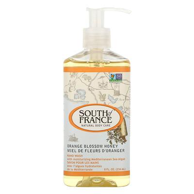 South of France Средство для мытья рук с успокаивающим алоэ вера, соцветиями апельсина и медом, 8 унций (236 мл)