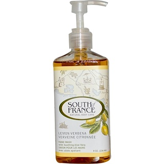 South of France, Lemon Verbena, Hand Wash with Soothing Aloe Vera, 8 oz (236 ml)