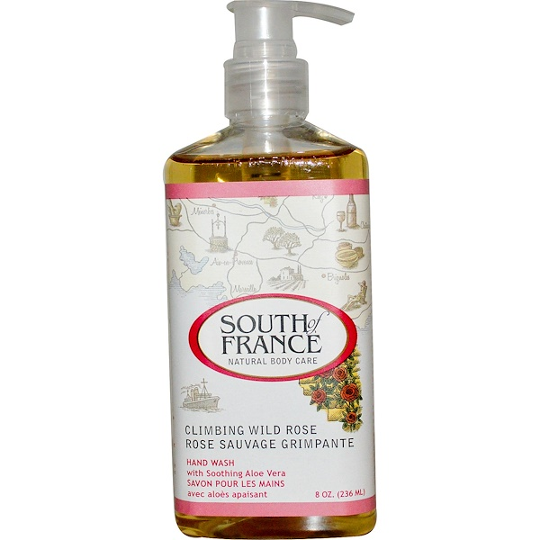 South of France, Climbing Wild Rose, Hand Wash with Soothing Aloe Vera, 8 oz (236 ml)