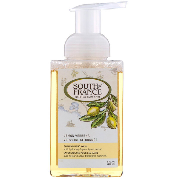 South of France, Foaming Hand Wash, Lemon Verbena, 8 fl oz (236 ml)