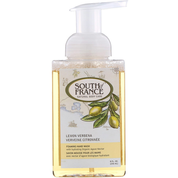 South of France, Mousse pour le lavage des mains, verveine citronnelle, 236 ml (8 fl oz)