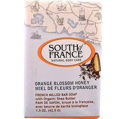 South of France, 法國銑削香皂,含機乳木果油,橙花蜜,1.5盎司(42.5 克)