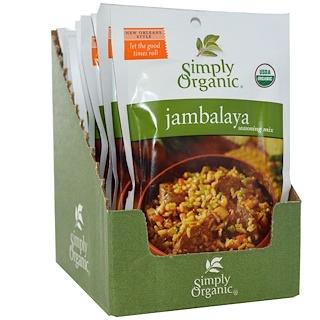Simply Organic, Jambalaya Seasoning Mix, 12 Packets, 0.74 oz (21 g) Each