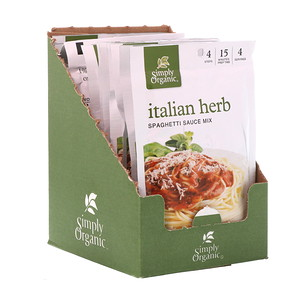 Симпли Органик, Italian Herb Spaghetti Sauce Mix, 12 Packets, 1.31 oz (37 g) Each отзывы
