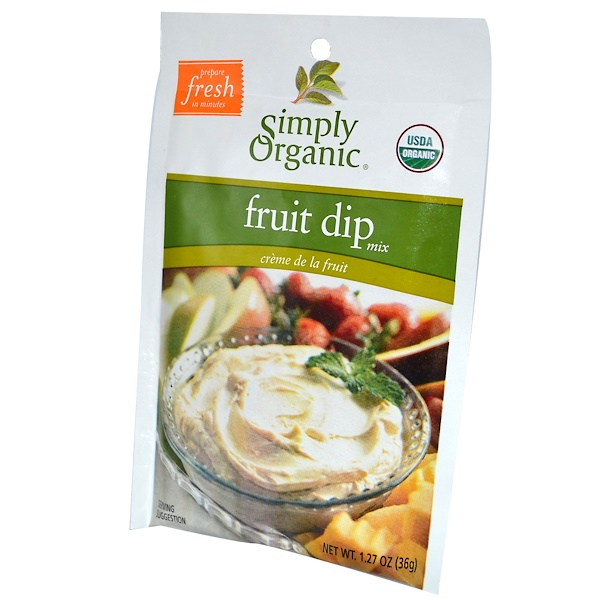 Simply Organic, Fruit Dip Mix, 24 Packets, 1.27 oz (36 g) Each (Discontinued Item)