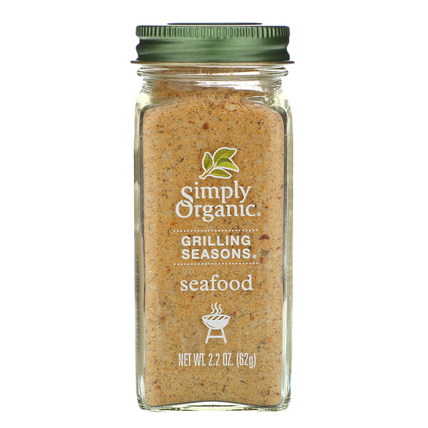 Grilling Seasons, Seafood, Organic, 2.2 oz (62 g)