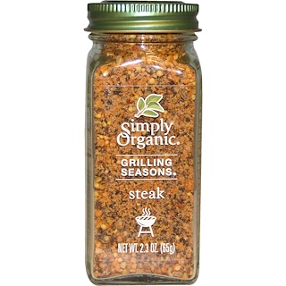 Simply Organic, Grilling Seasons, Steak, Organic, 2.3 oz (65 g)