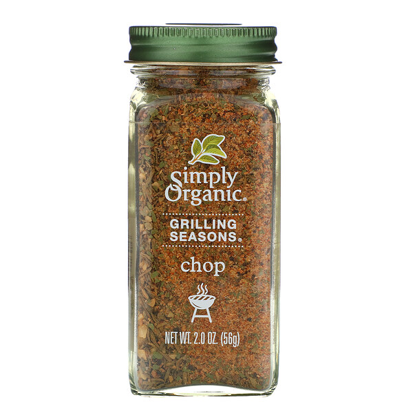 Simply Organic, Organic Grilling Seasons, Chop, 2.0 oz (56 g) (Discontinued Item)