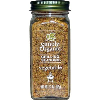 Специи для гриля, Для овощей, Органические, 2,2 унции (62 г)
