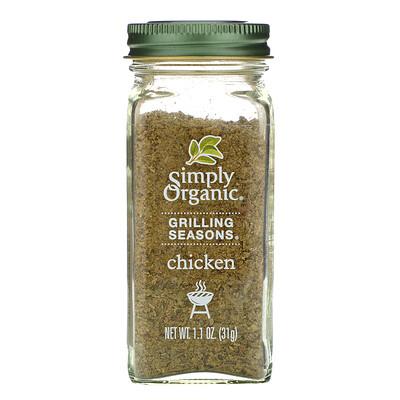 Приправа для гриля, курица, органическая, 1,1 унции (31 г) приправа для стейков с регулируемой мельничкой 108 г 3 81 унции