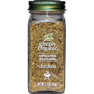 Simply Organic, Grilling Seasons, Chicken, Organic, 1.1 oz (31 g)