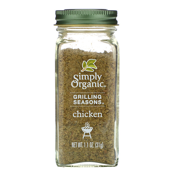 Grilling Seasons, Chicken, Organic, 1.1 oz (31 g)