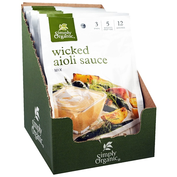 Simply Organic, Wicked Aioli Sauce Mix, 12 Packets,1.00 oz (28 g) Each (Discontinued Item)