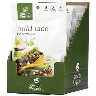 Simply Organic, Mild Taco, Seasoning Mix, 12 Pouches 1.00 oz (28 g) Each