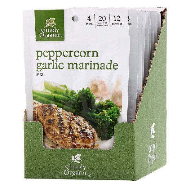 Peppercorn Garlic Marinade Mix, 12 Packets, 1.00 oz (28 g) Each