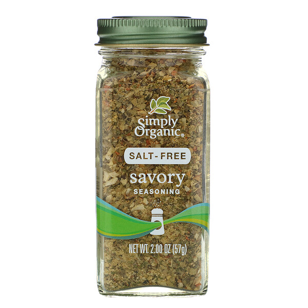 Simply Organic, Savory Seasoning, Salt-Free, 2.00 oz (57 g)