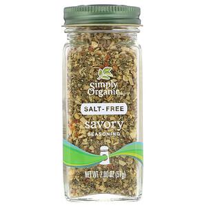 Simply Organic, Savory Seasoning, Salt-Free, 2.00 oz (57 g)