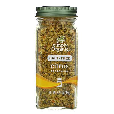 Купить Simply Organic цитрусовая приправа, без соли, 63г (2, 20унции)