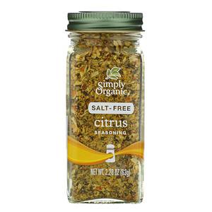 Симпли Органик, Citrus Seasoning, Salt-Free, 2.20 oz (63 g) отзывы покупателей