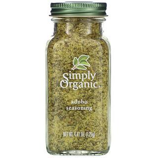 Simply Organic, Adobo Seasoning، به 4.41 أوقية (125 ملل)