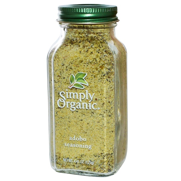 Simply Organic, Adobo Seasoning، به 4.41 أوقية (125 ملل)