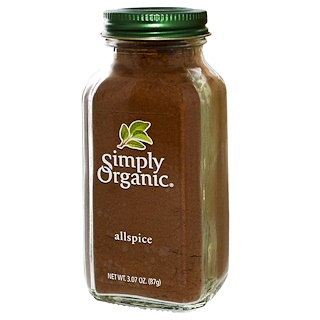 Simply Organic, Pimienta inglesa, 3.07 oz (87 g)