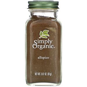 Симпли Органик, Allspice, 3.07 oz (87 g) отзывы покупателей